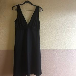 JCrew deep plunging neckline Aline dress